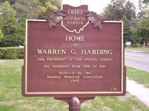 Warren G. Harding - Ohio Presidential