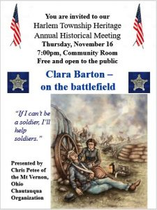Historical Meeting - Harlem Township Heritage - Delaware County Ohio