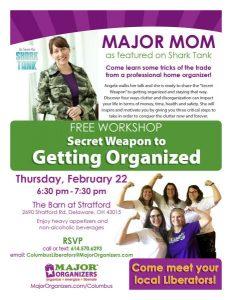 Major Organizers - Workshop - The Barn at Stratford - Event Venue - Delaware Ohio