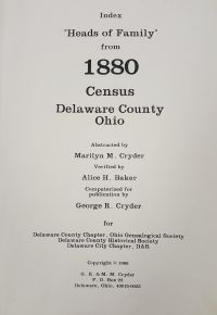 1880 Census Index - Delaware County Ohio - Delaware County Historical Society