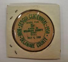 Wooden Nickel - Delaware Sesquicentennial
