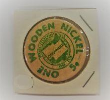 Wooden Nickel - Delaware Sequicentennial