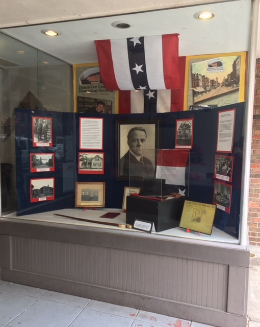 Frank B. Willis - History Display - The Hair Studio - Delaware County Historical Society - Delaware Ohio