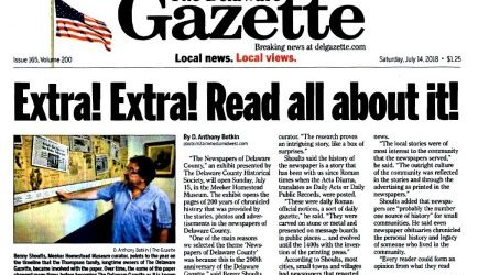 Newspapers Exhibit - In The Media - Delaware Gazette