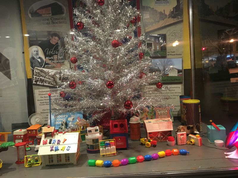 1960s Christmas - History Display - Hair Studio - Delaware Ohio - Delaware County Historical Society