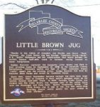 Little Brown Jug - Historical Marker - Delaware County Historical Society - Delaware Ohio