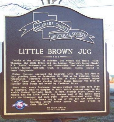 Little Brown Jug Historic Marker