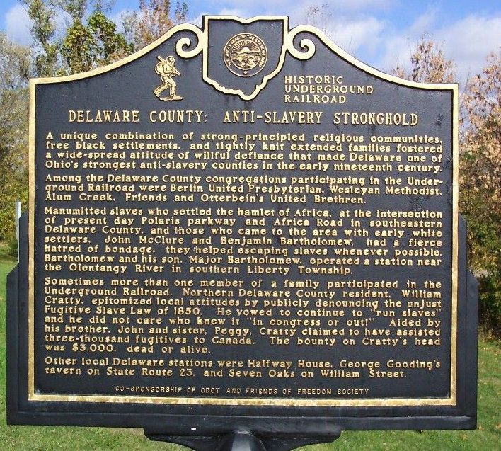 Underground Railroad - Historic Marker - Delaware County Historical Society - Delaware Ohio