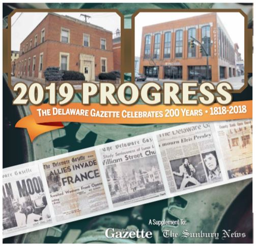 Gazette Celebrates 200 years - Newspaper - Local History - Delaware County Historical Society - Delaware Ohio