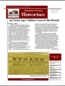Delaware County Historian - Newletter - Delaware County Historical Society - Delaware Ohio