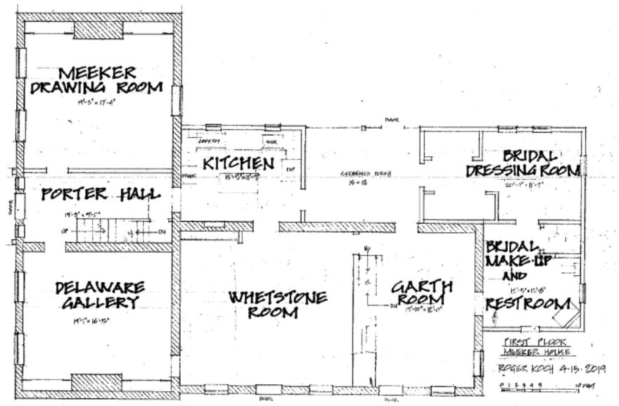 Meeker Homestead Museum - First Floor Plan - Delaware County Historical Society - Delaware Ohio