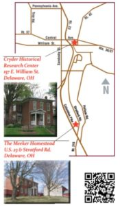 Meeker Homestead - Location Map - Delaware County Historical Society - Delaware Ohio