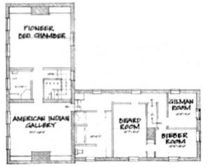 Meeker Homestead Museum - Second Floor Plan - Delaware County Historical Society - Delaware Ohio