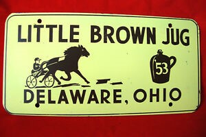 Little Brown Jug - Sovenir License Plate