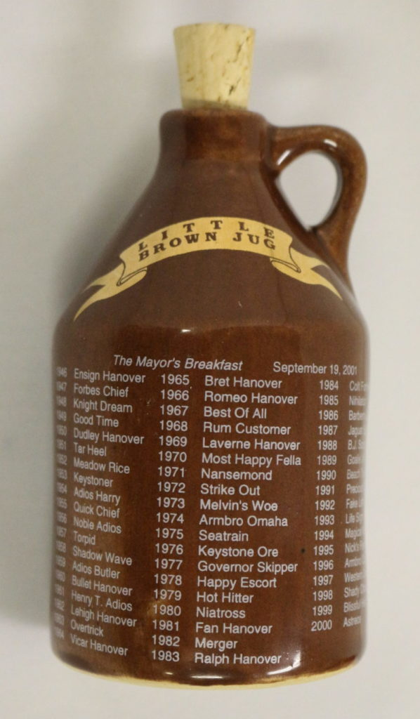 Little Brown Jug - Sovenir Jug - Delaware County Historical Society - Delaware Ohio