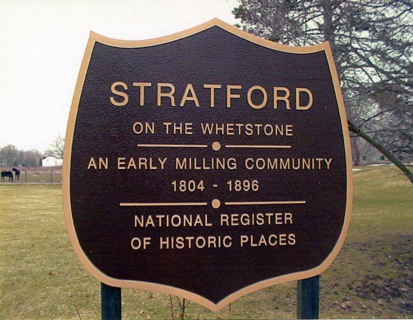 Stratford Historic Marker