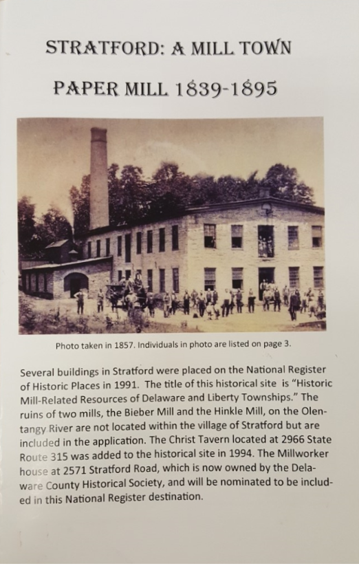 Stratford - Mill Town - Delaware County Historical Society