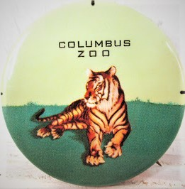 Vintage Columbus Zoo Tiger Button