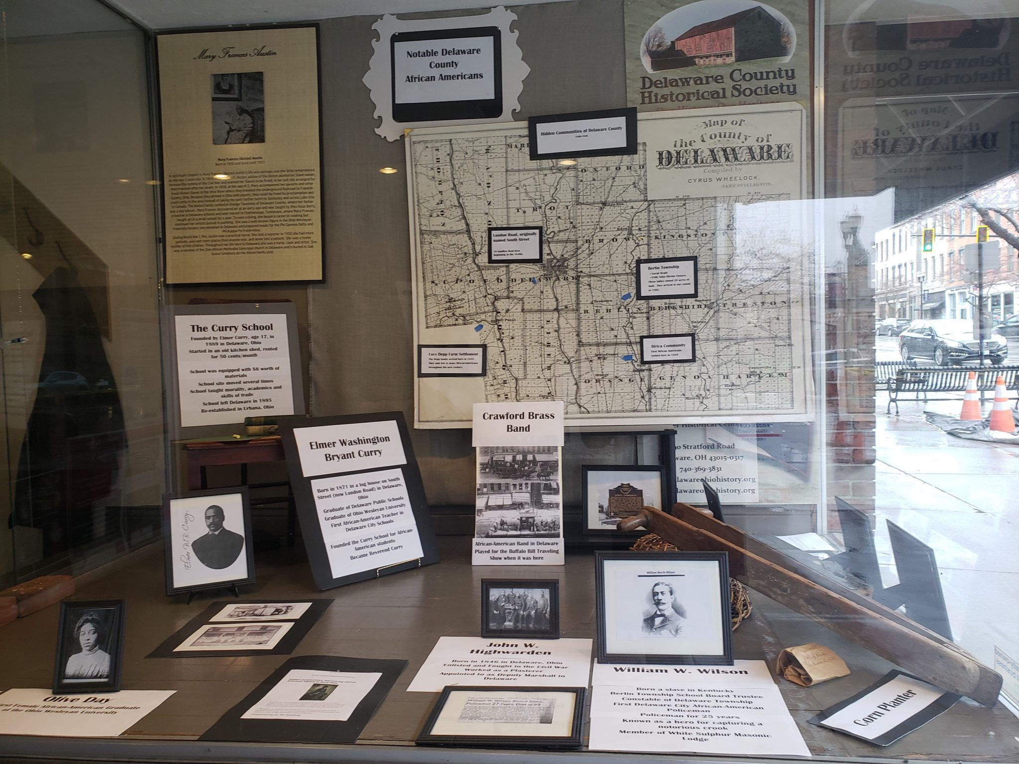 Hair Studio Window - Exhibit - Black History Month - Delaware County Historical Society