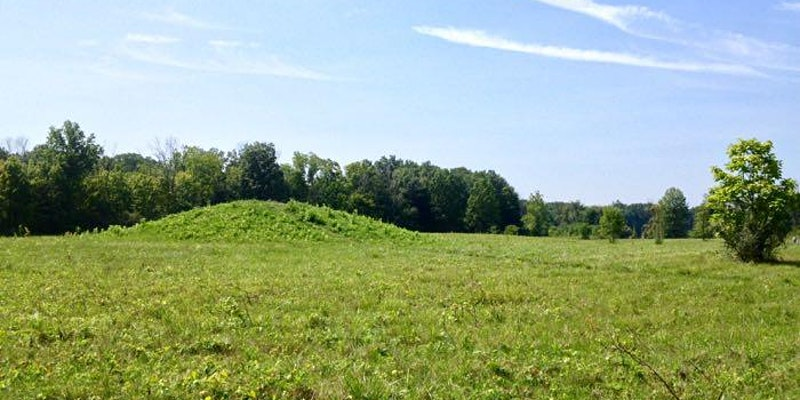 Archaeology Along the Olentangy - Adena Indian Mound at Highbanks Metropolitan park near the Olentangy River