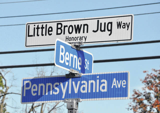 Little Brown Jug Way - Honorary Street Sign