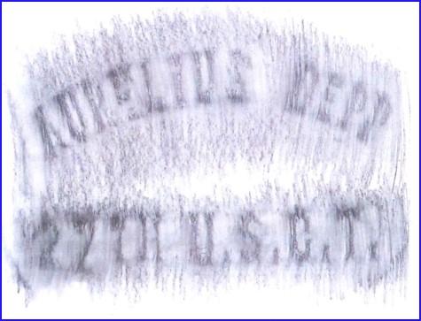Depp Cemetery - Delaware County Ohio - Aurelius Depp inscription