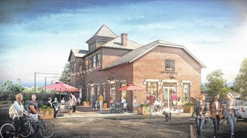 Historic Train Station - Delaware Ohio - Central Avenue - Revitalized Plan